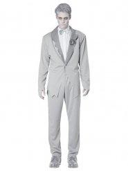 Costume da sposo fantasma grigio uomo