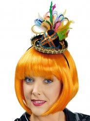 Mini sombrero colorato con paillettes per donna
