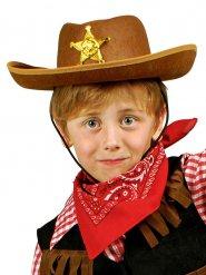 Cappello marrone da sceriffo per bambino