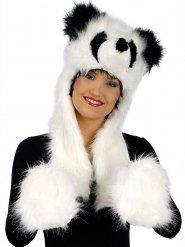 Cappello con guanti panda!