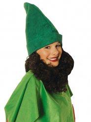 Cappello verde da nano con barba