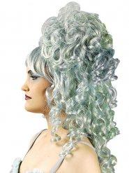 Parrucca barocca boccoli grigi per donna