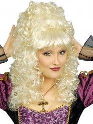 Parrucca biondo platino stile barocco per donna