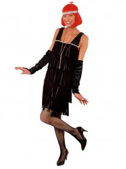 Costume Charleston nero con manicotti per donna