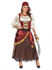 Costume da pirata dei 7 mari deluxe per donna