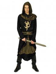 Costume cavaliere nero e oro per uomo