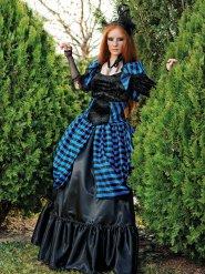Costume da vampiro vittoriano gotico per donna