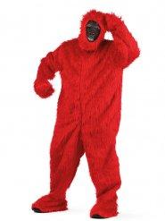 Costume deluxe gorilla rosso per adulto