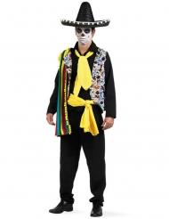 Costume messicano da Dia de los muertos per uomo