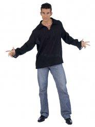 Camicia medievale nera per uomo