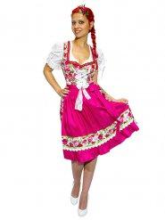 Costume da bavarese gitana con fiori per donna