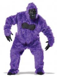Costume da gorilla viola e nero per adulto