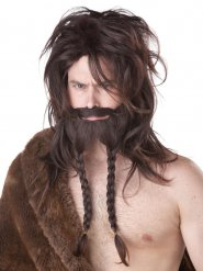 Parrucca vichingo per uomo
