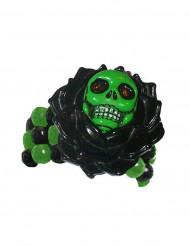 Bracciale gotico scheletro nero e verde adulto