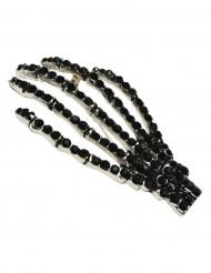 spilla gotica mani di scheletro nere