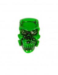 Spilla con teschio verde Halloween