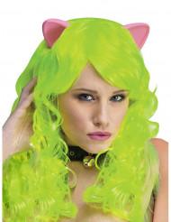 Parrucca Fantasy con orecchie da gatto