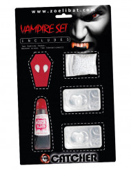 Kit accessori da Vampiro con lenti a contatto per adulti Halloween