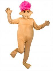 Costume da Troll rosa per adulto