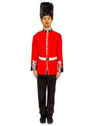 Costume da Guardia reale inglese rosso e nero per uomo