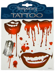 Tatuaggi temporanei da vampiro halloween