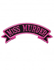 Toppa gotica Miss Murder rosa e nero