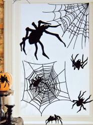 Kit di 24 ragni adesivi halloween