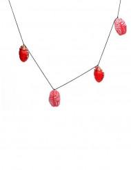 Ghirlanda con cuore e cervello 150x9 cm Halloween