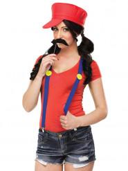 Costume da idraulico dei videogiochi retro per donna