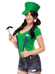 Costume idraulico verde per donna