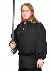 Camicia medievale nera per adulto