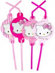 8 Cannucce con gatto rosa