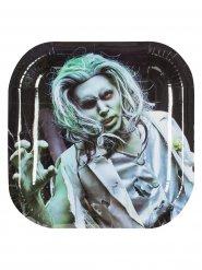6 piatti in cartone zombie halloween