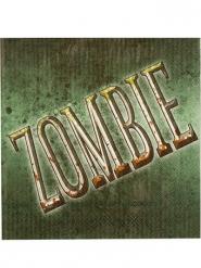 12 tovaglioli in carta zombie verdi
