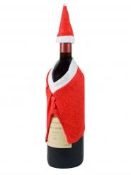 Image of Cappello e Cappotto decorativo per bottiglia di vino Natale