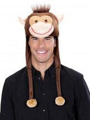 Cappello da scimmia in peluche per adulto