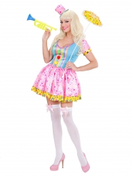 Costume da clown divertente per donna