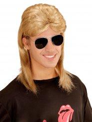Parrucca e occhiali da soile anni 80 uomo