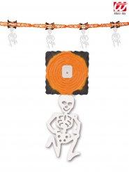 Ghirlanda scheletro arancione
