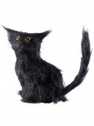 Gatto nero 12 cm halloween