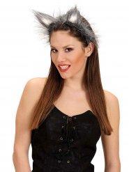 Cerchietto orecchie da lupo per donna
