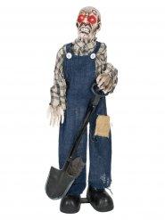Decorazione di halloween becchino zombie 75 cm