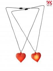 Collana con cuore luminoso rosso