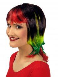 Image of Parrucca corta liscia multicolore