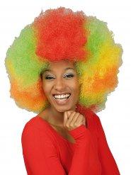 Parrucca gigante afro multicolore per adulto
