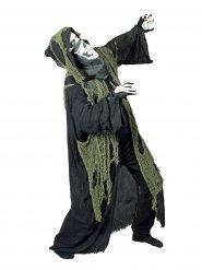 Mantello da morte nero con dettagli verdi per adulto Halloween