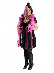 Costume da cabaret nero e rosa per donna