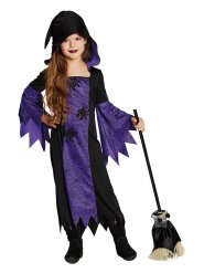 Costume strega nero e viola per bambina