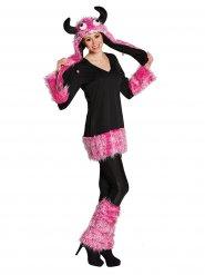 Costume da mostro rosa per donna