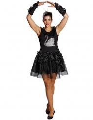 Costume da ballerina cigno nero per donna